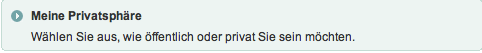 Privatsphäre bei XING