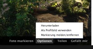 Facebook Markierung entfernen