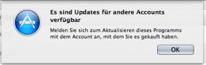 Es sind Updates für andere Accounts verfügbar