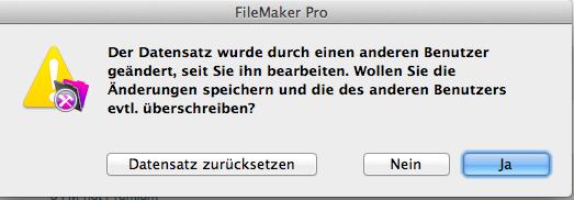 Abb. 1, FileMaker-Dialog